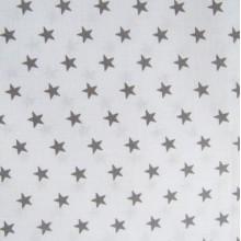 Étoile grise fond blanc